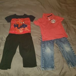 2T bundle 2 pants and 2 tshirts
